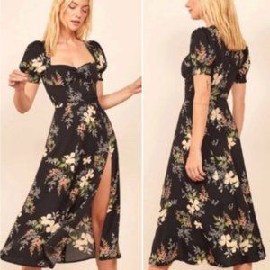 NWT Reformation Lacey Isabella Floral Midi Dress 8